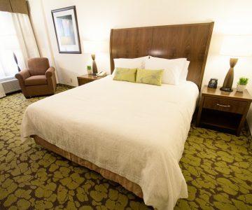 Hilton Garden Inn Saskatoon King Bedroom